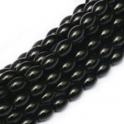 Perle cehesti  Rizo 6x4 mm Black [0]