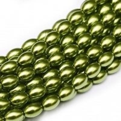 Perle cehesti  Rizo 6x4 mm Green Apple [0]