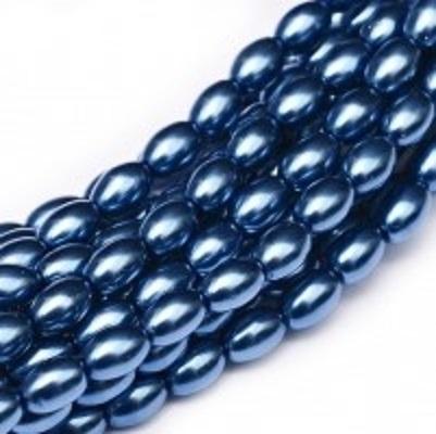 Perle cehesti  Rizo 6x4 mm Persian Blue [0]