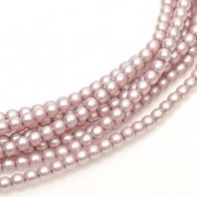 Perle cehesti  matted 4 mm Antique pink satin [0]