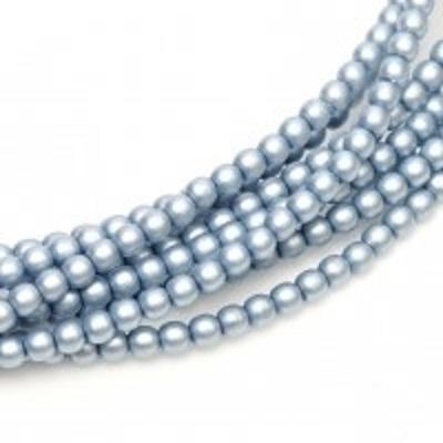 Perle cehesti  matted 4 mm Cerulean satin [0]