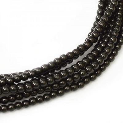 Perle cehesti  shiny 4 mm Black [0]