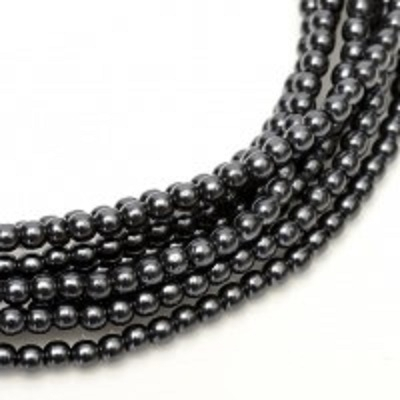 Perle cehesti  shiny 4 mm Dark Grey 0