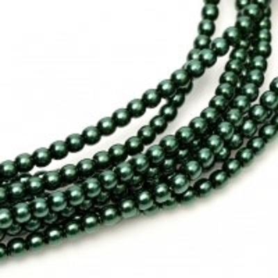 Perle cehesti  shiny 4 mm Deep Emerald [0]