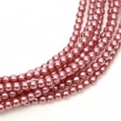 Perle cehesti  shiny 4 mm Fandarginto Pink 0