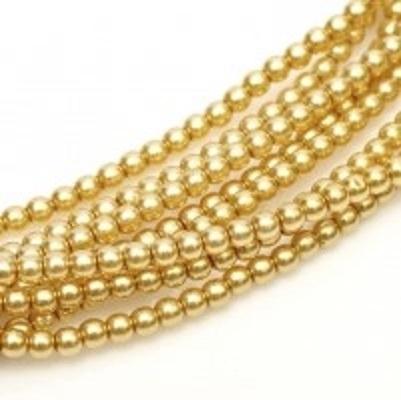 Perle cehesti  shiny 4 mm Light Gold [0]