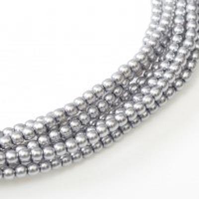 Perle cehesti  shiny 4 mm Light Grey [0]