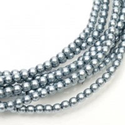 Perle cehesti  shiny 4 mm State Blue 0