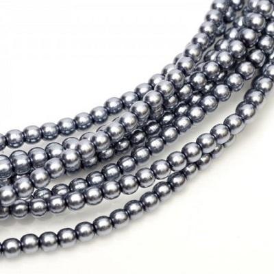Perle cehesti  shiny 8 mm Grey [0]