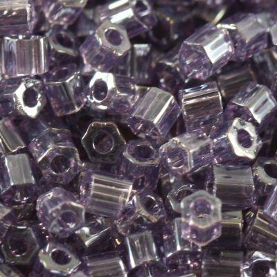 Margele Toho Hex 2,2 mm transparent  lustered sugar plum TH 11 136 [0]