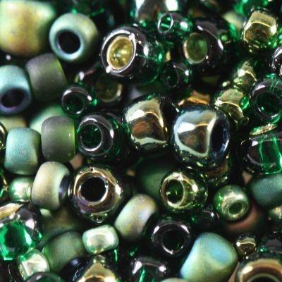 Margele Toho mix culoare verde/negru  bonsai  TX 01 3209 0