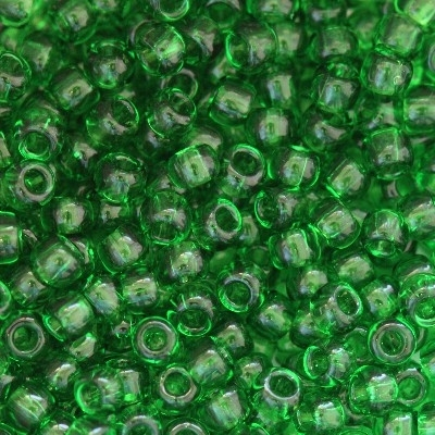 Margele Toho Round 11/0 transparent grass green TR 11 7B 0