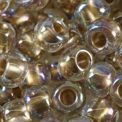 Margele Toho Round 6/0 gold lined rainbow crystal TR 06 994 0