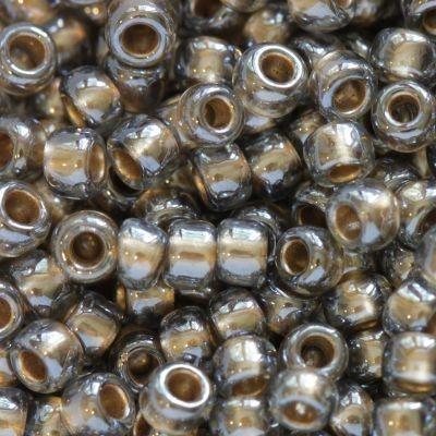 Margele Toho Round 8/0 gold lined black diamond TR 08 993 0