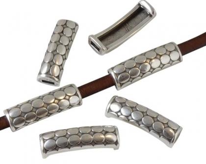 Tub zamak argintiu 29x8,5 mm 0