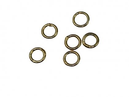 Zale inchise rotunde  argint 925 placat cu aur galben D 5 mm [0]