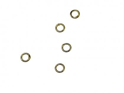 Zale inchise rotunde  argint 925 placat cu aur galben D 8 mm 0
