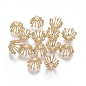 Capacele din alama cu micropave cubic zirconia placat cu aur 18k0