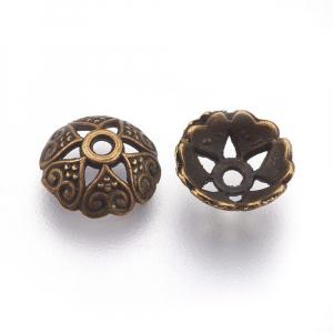 Capacele stil tibetan cu inimioare bronz antichizat0