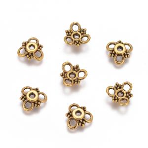 Capacele stil tibetan flori auriu antichizat1
