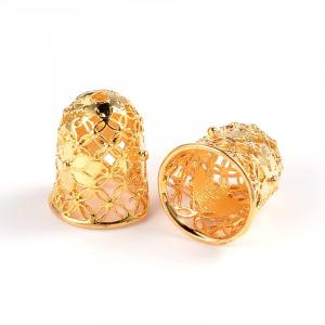 Capat snur cu flori auriu argintiu auriu roz sau gun metal dimensiunea 15x12mm orificiu 2mm  diametrul 9 mm0