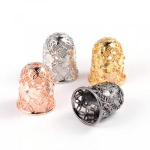 Capat snur cu flori auriu argintiu auriu roz sau gun metal dimensiunea 15x12mm orificiu 2mm  diametrul 9 mm1