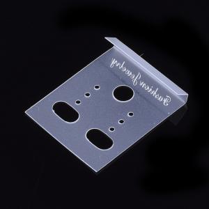 Card alb transparent pentru expunere cercei0
