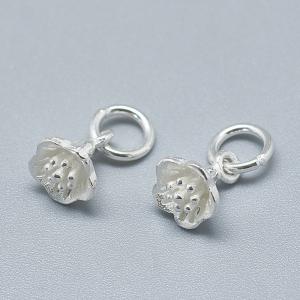 Charm floare clopotel din argint1