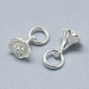 Charm floare clopotel din argint0