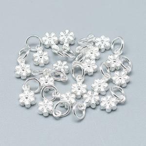 Charm floare din argint0