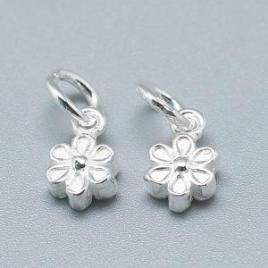 Charm floare din argint1