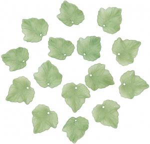 Frunze din acrilic verde frosted0