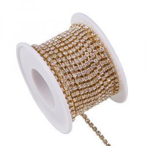Lant auriu cu stras rhinestone cristal2