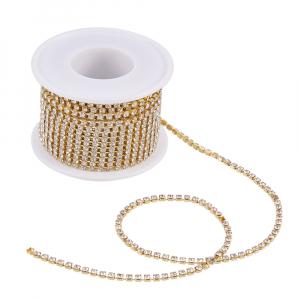 Lant auriu cu stras rhinestone cristal1