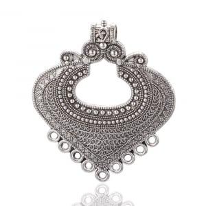 Link Chandelier stil Tibetan argintiu antichizat  dimensiunea 61x53x2mm1