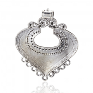 Link Chandelier stil Tibetan argintiu antichizat  dimensiunea 61x53x2mm0