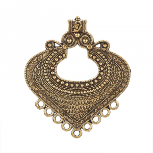 Link Chandelier stil Tibetan auriu antichizat  dimensiunea 61x53x2mm1