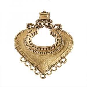 Link Chandelier stil Tibetan auriu antichizat  dimensiunea 61x53x2mm0