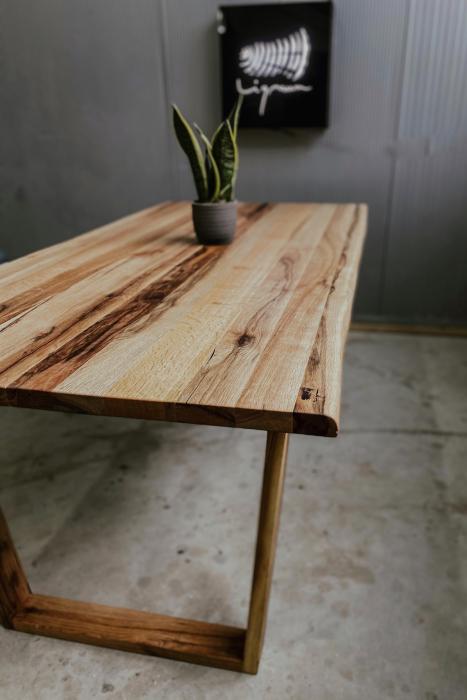 Masa dining lemn masiv 4