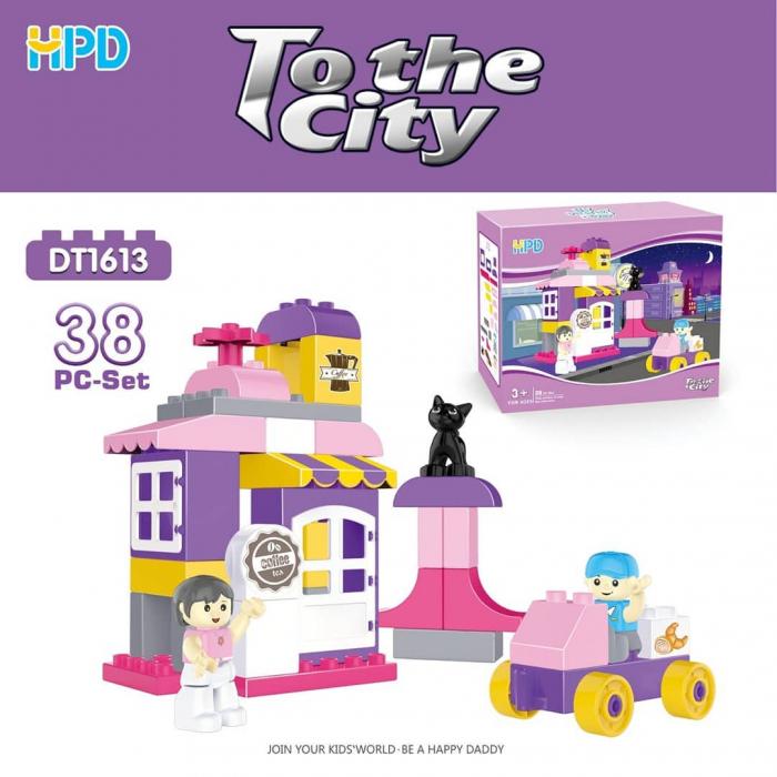 Set 38 piese de construit Cafenea pentru Orasul Magic 0