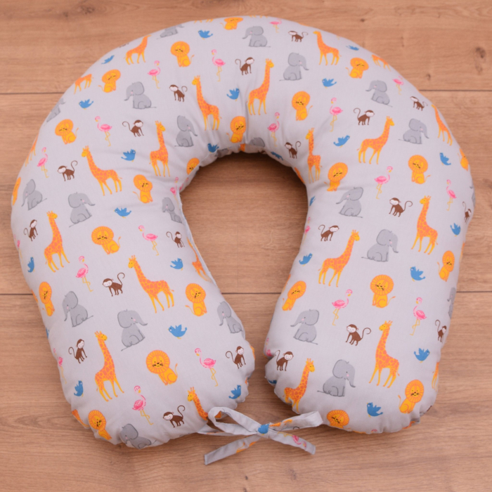 Perna de alaptare bebelusi, din bumbac 100%, Zoo 1
