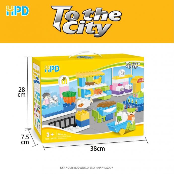Set 74 piese de construit pentru Orasul Magic 1