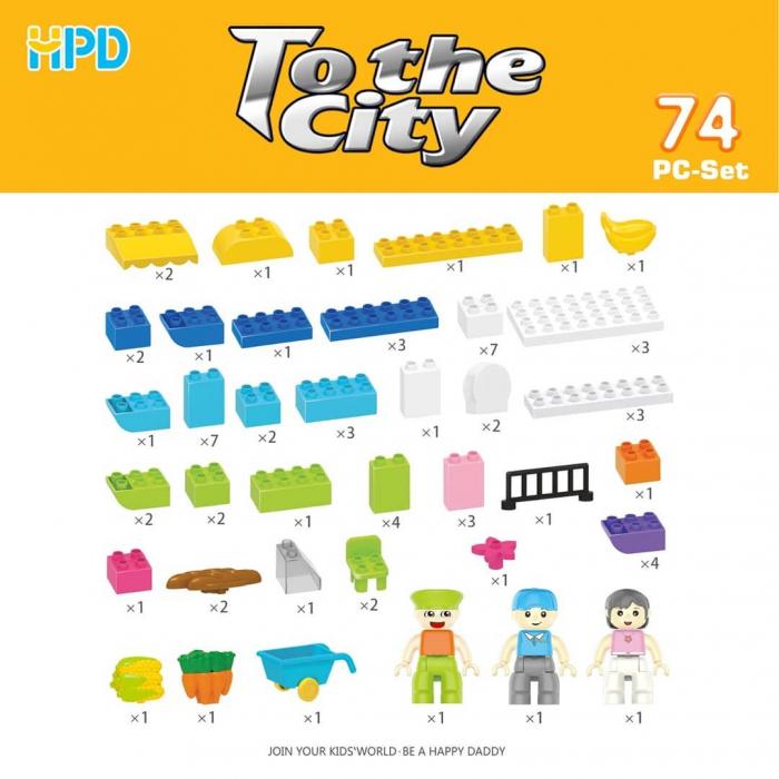 Set 74 piese de construit pentru Orasul Magic 2
