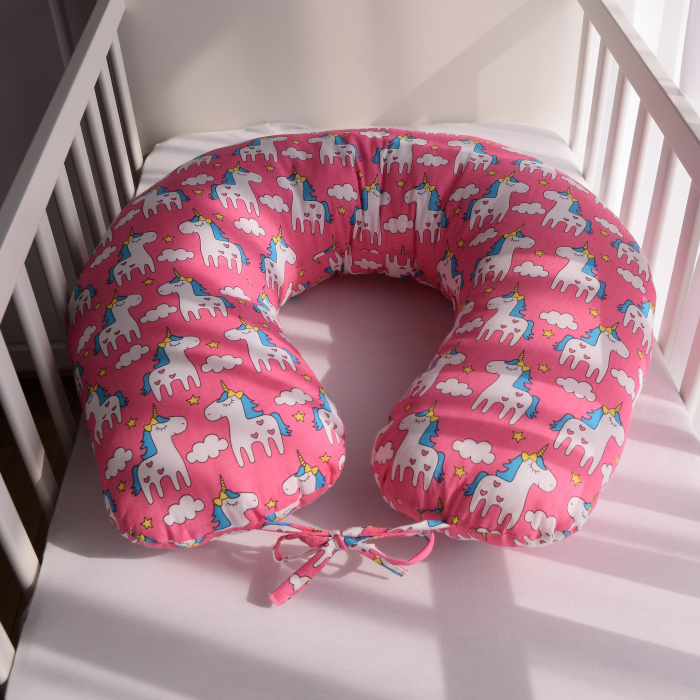 Perna de alaptare bebelusi, din bumbac 100%, Unicorn 3