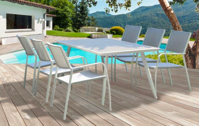 Set masă grădină și scaune 7 piese Vulkan 0