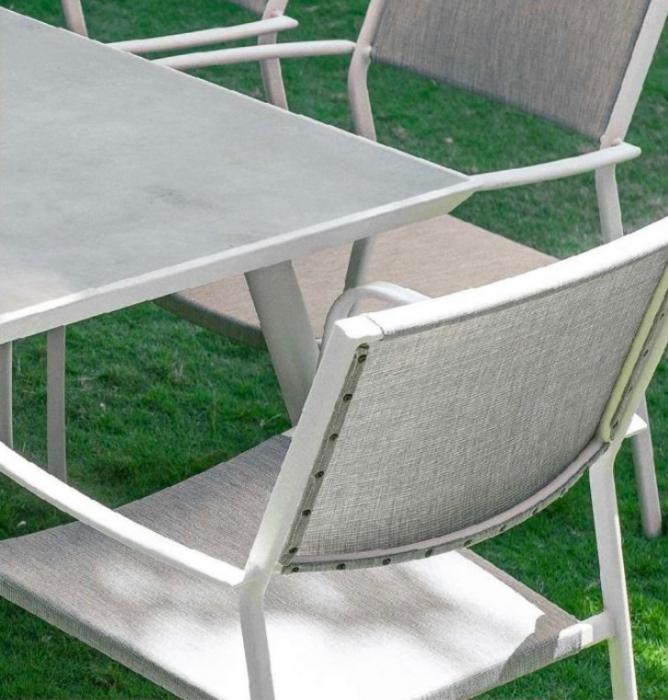 Set masă grădină și scaune 7 piese Vulkan 1