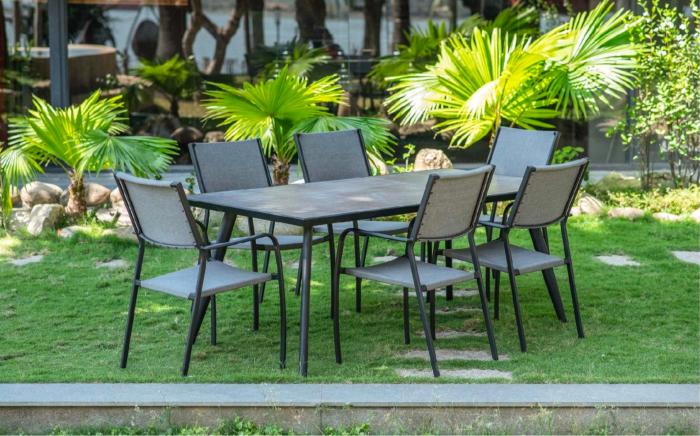 Set masă grădină și scaune 7 piese Darla 0
