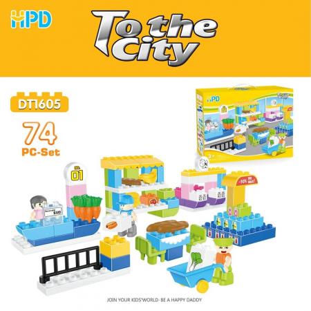 Set 74 piese de construit pentru Orasul Magic0