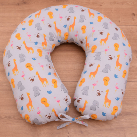 Perna de alaptare bebelusi, din bumbac 100%, Zoo1