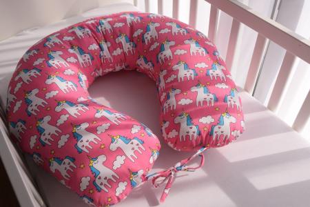 Perna de alaptare bebelusi, din bumbac 100%, Unicorn2